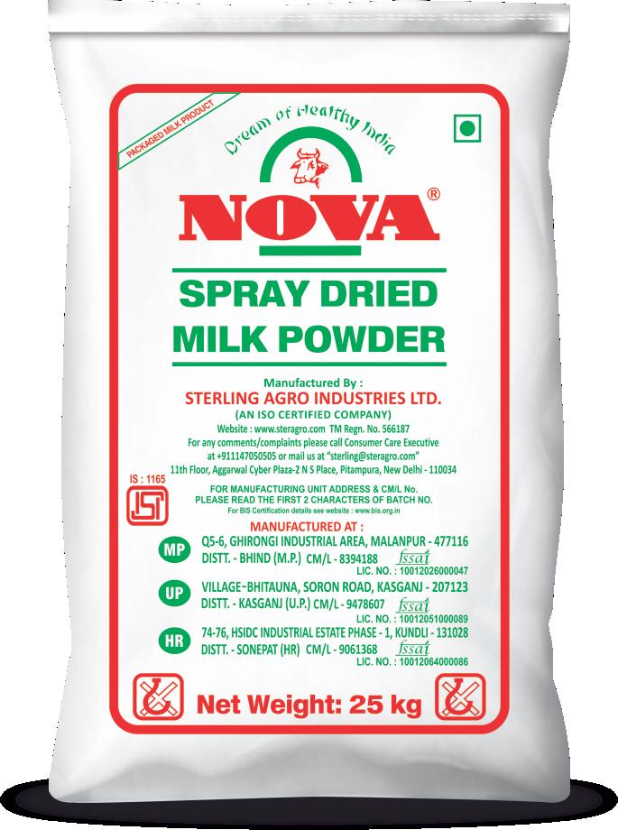 nova spray dried milk powder