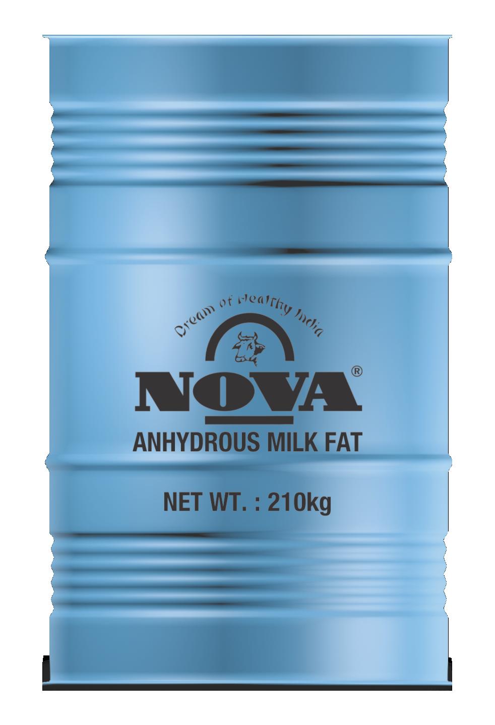 nova anhydrous milk fat 210 kg